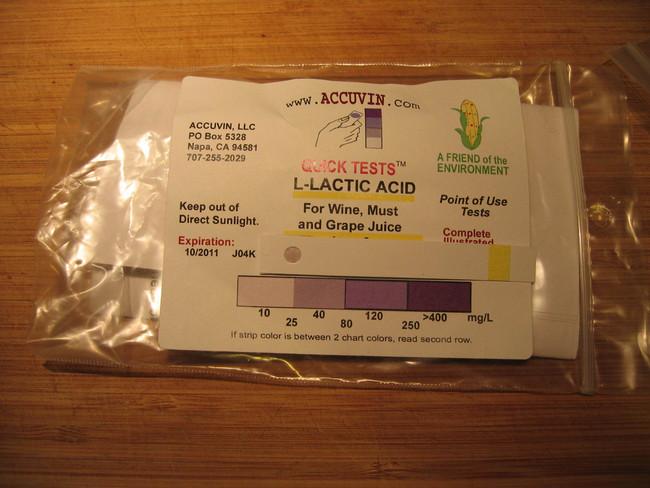 syrah lactic acid test 102509